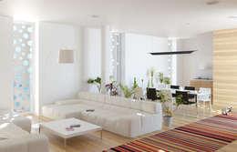 غرفة المعيشة تنفيذ  Aleksandr Zhydkov Architect