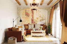 Salas / recibidores de estilo colonial por Студия дизайна Interior Design IDEAS