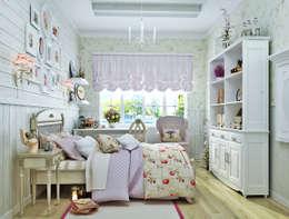 Прованс для детской: три варианта: Детские комнаты в . Автор – Студия дизайна Interior Design IDEAS