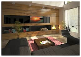 scandinavian Living room by  Aleksandr Zhydkov Architect