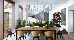 Projekty,  Jadalnia zaprojektowane przez  Aleksandr Zhydkov Architect