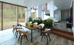 Comedores de estilo escandinavo por  Aleksandr Zhydkov Architect