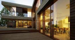 Projekty, skandynawskie Domy zaprojektowane przez  Aleksandr Zhydkov Architect