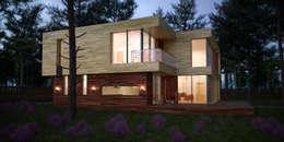 Casas de estilo escandinavo por  Aleksandr Zhydkov Architect