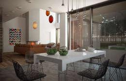 Livings de estilo escandinavo por  Aleksandr Zhydkov Architect