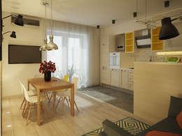 Квартира в стиле лофт: Кухни в . Автор – Polovets design studio