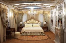 غرفة نوم تنفيذ ООО ПрофЭксклюзив Студия дизайна интерьеров