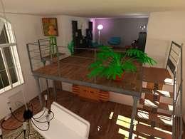 projet de création d'un loft: Salon de style de style Industriel par Reinvente Ta Maison