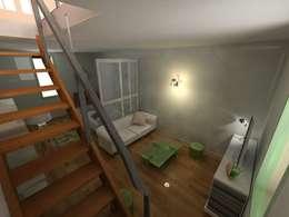 Sous-sol devenant chambre: Chambre de style de style Industriel par Reinvente Ta Maison