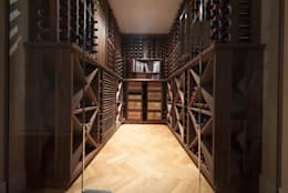 Bodegas de estilo escandinavo por Tim Wood Limited