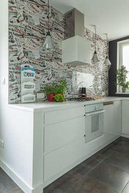 dom 115m2: styl , w kategorii Kuchnia zaprojektowany przez Projekt Kolektyw Sp. z o.o.