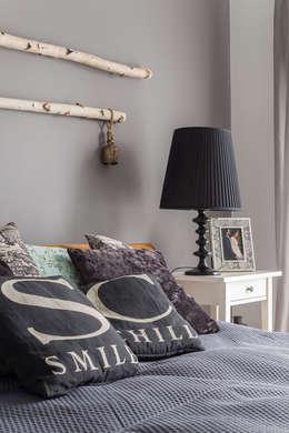 dom 115m2: styl , w kategorii Sypialnia zaprojektowany przez Projekt Kolektyw Sp. z o.o.