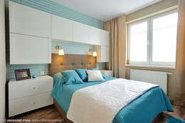 mieszkanie z Bolkiem i Lolkiem: styl , w kategorii Sypialnia zaprojektowany przez Projekt Kolektyw Sp. z o.o.