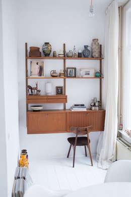 interieur- en kleuradvies: scandinavische Woonkamer door studio zipp