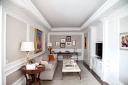 Kerim Çarmıklı İç Mimarlık – Çubukluvadi Evi - TV ODASI: modern tarz Multimedya Odası