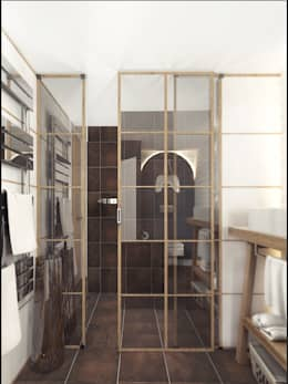 LOFT APARTMENT МОСКВА: Ванные комнаты в . Автор – IK-architects