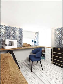 IK-architects의  서재 & 사무실