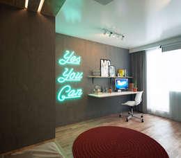 minimalistische Studeerkamer/kantoor door IK-architects