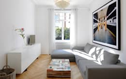 غرفة المعيشة تنفيذ Schmidt Holzinger Innenarchitekten