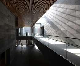 포항 시립미술관 (POMA): ADF Architects의  복도 & 현관