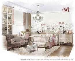 Интерьер детской подойдет для близнецов или сестер близкого возраста: Детские комнаты в . Автор – Olga's Studio