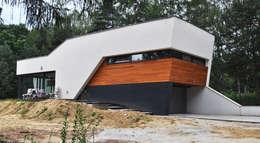 Dom w Rybniku: styl nowoczesne, w kategorii Domy zaprojektowany przez STRUKTURA Łukasz Lewandowski