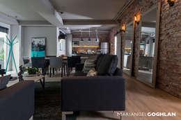 Sala: Salas de estilo industrial por MARIANGEL COGHLAN