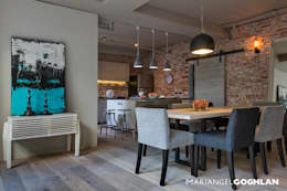 industrial Dining room by MARIANGEL COGHLAN