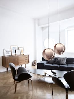 Lámpara ACORAZADO : Vestíbulos, pasillos y escaleras de estilo  por UP-A mobiliario por Jorge Torres y Mariana Verdiguel