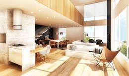 Salas de estilo moderno por Boa Arquitetura