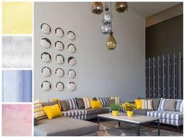 Novedades 2015: Salas de estilo moderno por MARIANGEL COGHLAN