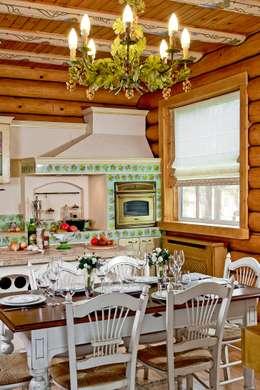 Cocinas de estilo rústico por Amazing Studio Светланы Панариной