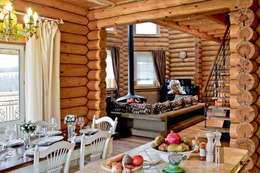Livings de estilo rústico por Amazing Studio Светланы Панариной