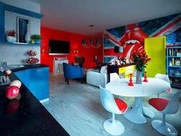 Гостиная в стиле поп-арт: Гостиная в . Автор – Студия дизайна интерьера Маши Марченко