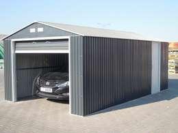 Garajes de estilo industrial por FRANCE ABRIS : Spécialiste  abri de jardin, garage, carport