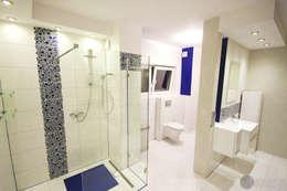Biel i atrament: styl , w kategorii Łazienka zaprojektowany przez Twindesign  - Kompleksowe Usługi Budowlane