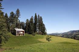 Bienenhus im sanft geschwungenen Voralpengebiet: moderne Häuser von Yonder – Architektur und Design