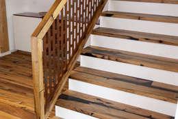 Projekty,  Korytarz, hol i schody zaprojektowane przez History Wood