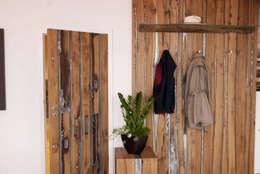 modern Corridor, hallway & stairs by History Wood