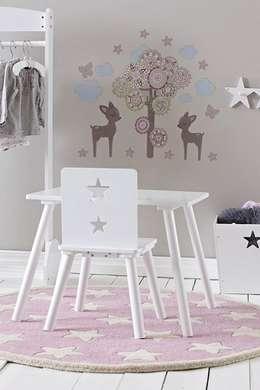Szaro-różowy pokój dla dziewczynki w stylu skandynawskim: styl , w kategorii Pokój dziecięcy zaprojektowany przez Sklep Internetowy Kiddyfave.pl