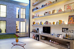 living: Salas de estar modernas por PAULA BITTAR ARQUITETURA