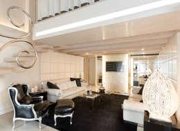 Salones de estilo ecléctico de STUDIO CERON & CERON