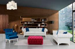 Mahir Mobilya – ancona koltuk takımı: rustik tarz tarz Oturma Odası