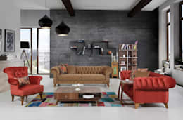 rustic Living room تنفيذ Mahir Mobilya