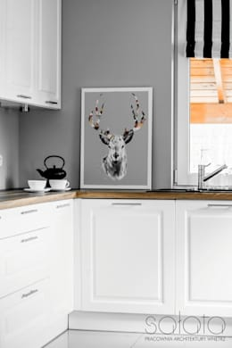 Dom jednorodzinny, Maszewo.: styl , w kategorii Kuchnia zaprojektowany przez Sałata-Pracownia Architektury Wnętrz