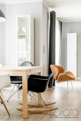 Dom jednorodzinny, Maszewo.: styl , w kategorii Jadalnia zaprojektowany przez Sałata-Pracownia Architektury Wnętrz