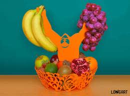 """Miska na owoce """"Clyde"""": styl , w kategorii Kuchnia zaprojektowany przez Longart"""