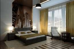 Chambre de style de style Minimaliste par Дизайн студия 'Exmod' Павел Цунев
