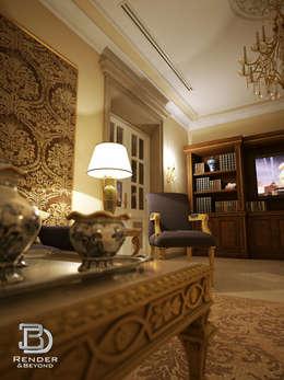غرفة المعيشة تنفيذ 3D Render&Beyond