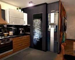 Кухня 1: Кухни в . Автор – Inna Katyrina & 'A-LITTLE-GREEN' studio interiors